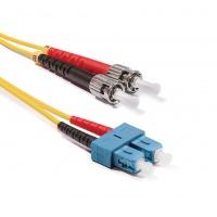 Duplex ST-SC patch kábel, OS2 9/125 µm (ITU-T G.652.D)